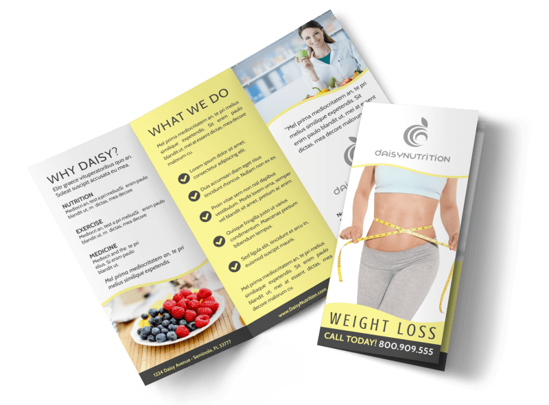 Professional Weight Loss Tri-Fold Brochure Template Preview 1