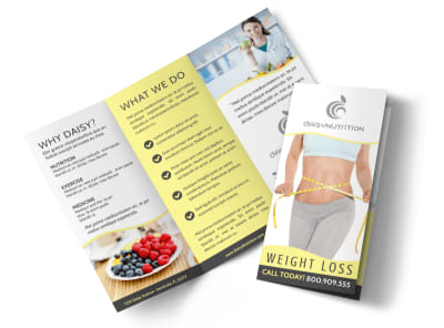 Professional Weight Loss Tri-Fold Brochure Template preview