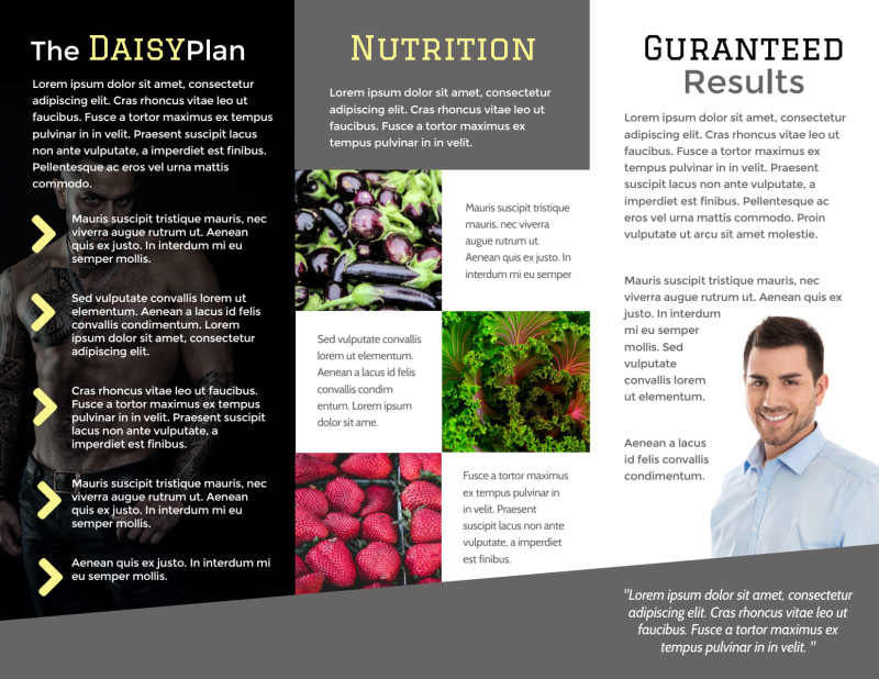 Weight Loss For Men Tri-Fold Brochure Template Preview 3
