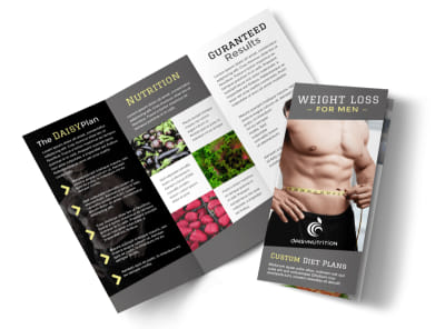 Weight Loss For Men Tri-Fold Brochure Template preview