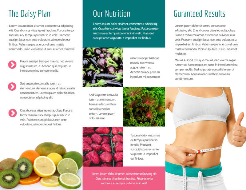 Nutrition Weight Loss Tri-Fold Brochure Template Preview 3