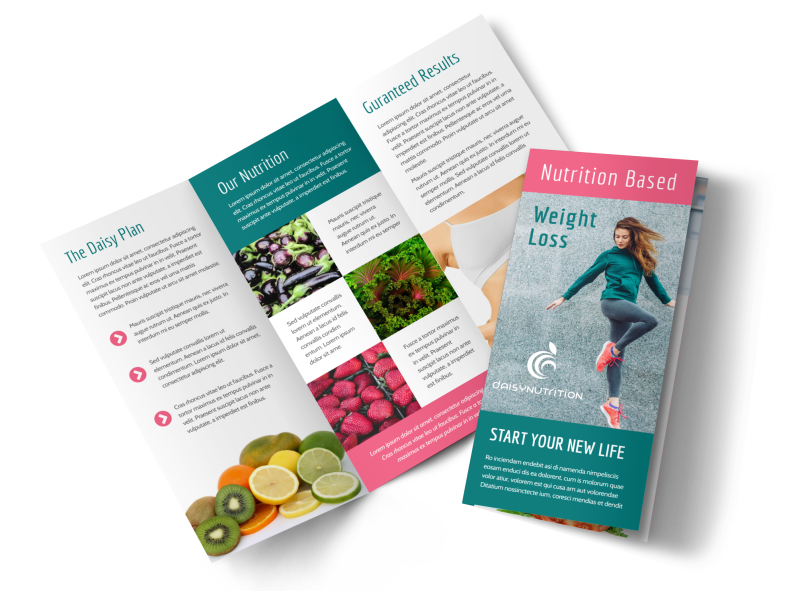 Nutrition Weight Loss Tri-Fold Brochure Template Preview 1