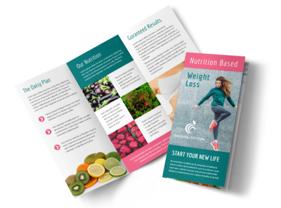 Nutrition Weight Loss Tri-Fold Brochure Template preview