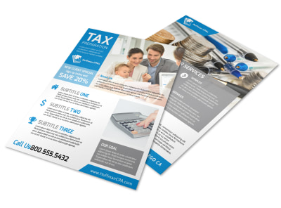 Tax Prep Flyer Template preview