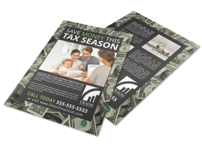 Tax Season Flyer Template preview