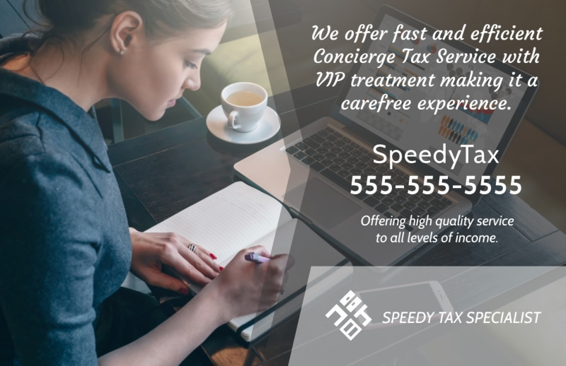 Speedy Tax Service Postcard Template Preview 2