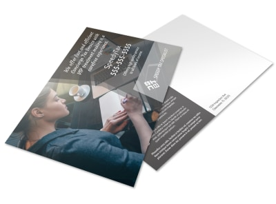 Speedy Tax Service Postcard Template preview