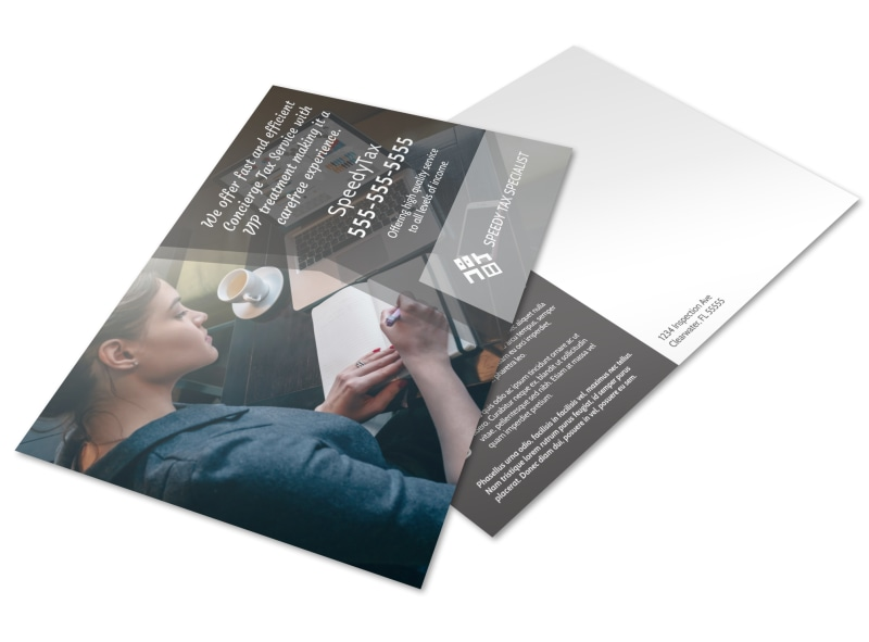 Speedy Tax Service Postcard Template Preview 4