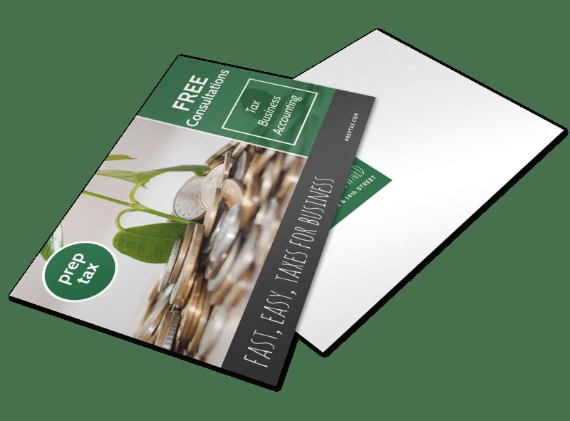 Tax Prep Postcard Template Preview 1