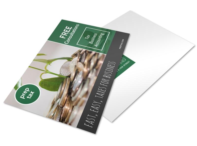 Tax Prep Postcard Template Preview 4