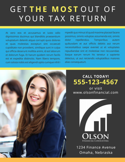 Tax Preparation Advertising Flyer Template Preview 2