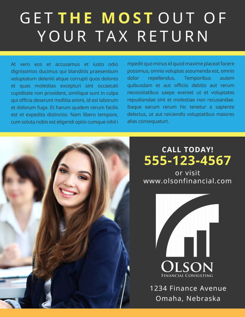 Tax Preparation Advertising Flyer Template Preview 3