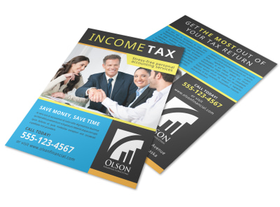 Tax Preparation Advertising Flyer Template preview
