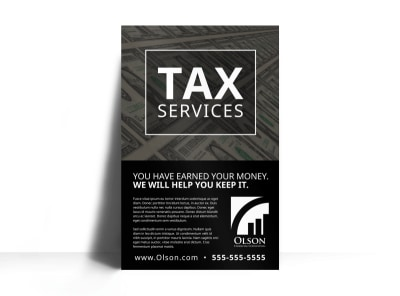 Clean Tax Service Poster Template preview