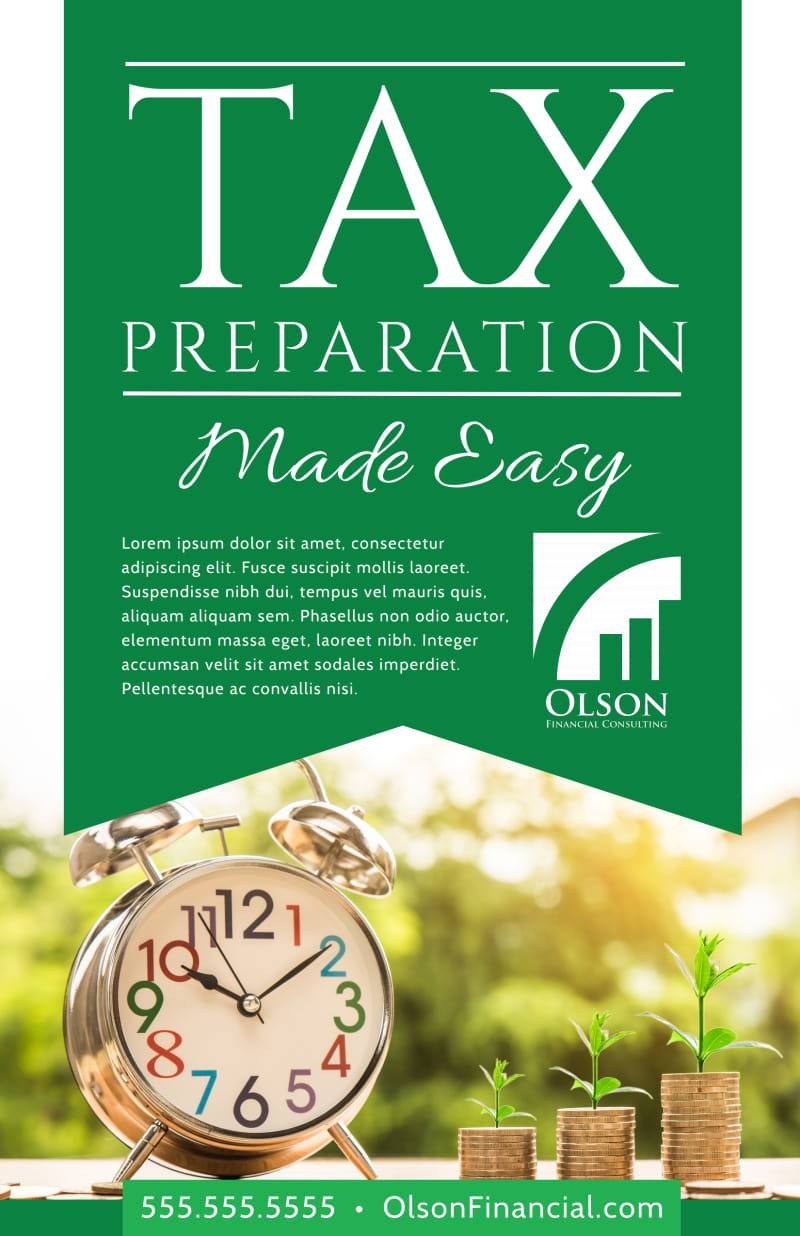 Tax Preparation Advertising Poster Template Preview 2