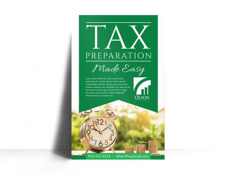 Tax Preparation Advertising Poster Template Preview 1
