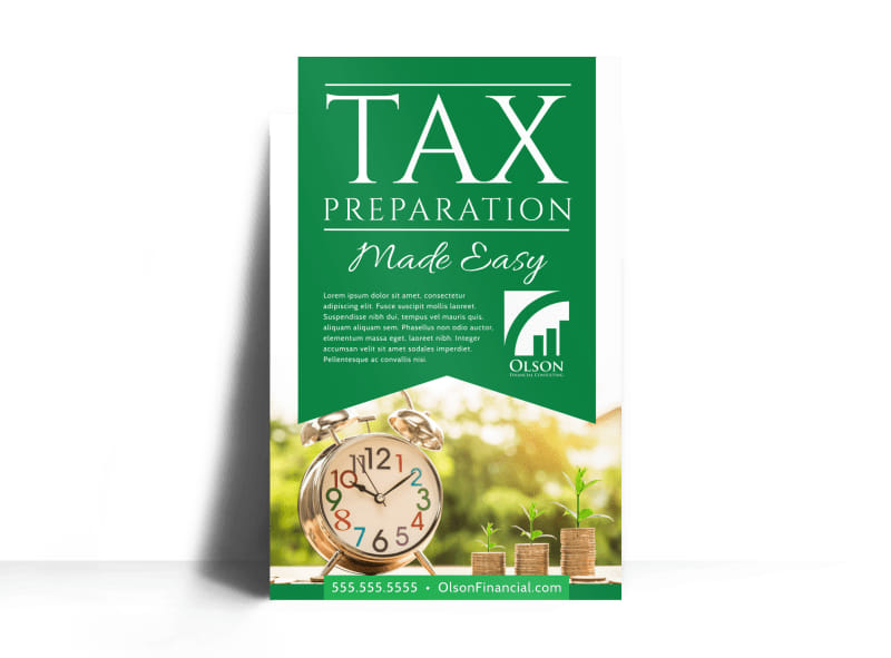 Tax Preparation Advertising Poster Template