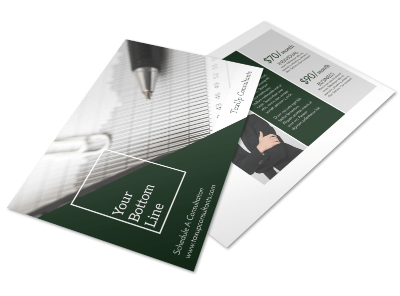 Tax Prep Pricing Postcard Template Preview 1