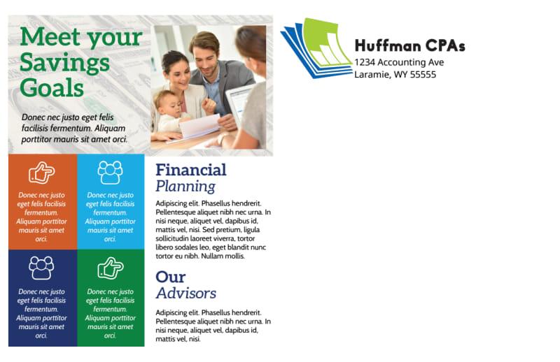 Tax Preparation Postcard Template Preview 3