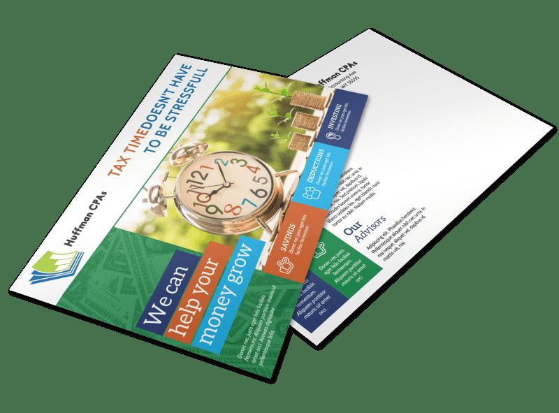 Tax Preparation Postcard Template Preview 1