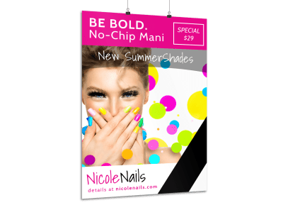 Nail Salon Posters Template Preview