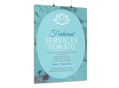 Featured Spa Services Poster Template