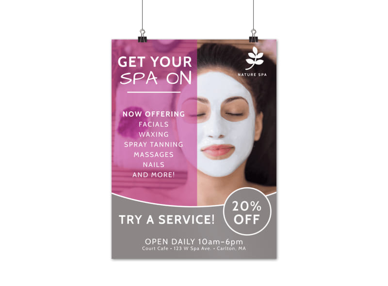 Spa Service Offering Poster Template