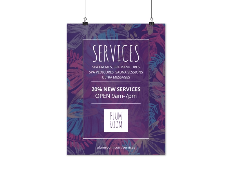 Beautiful Spa Poster Template