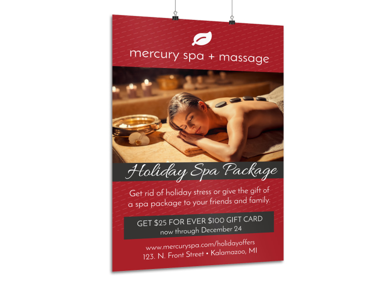 Holiday Spa Poster Template