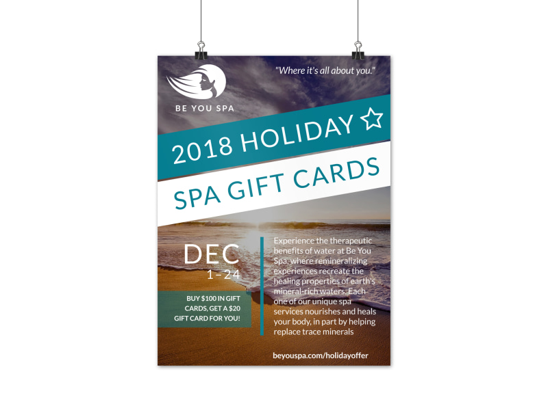 Spa Special Holiday Poster Template