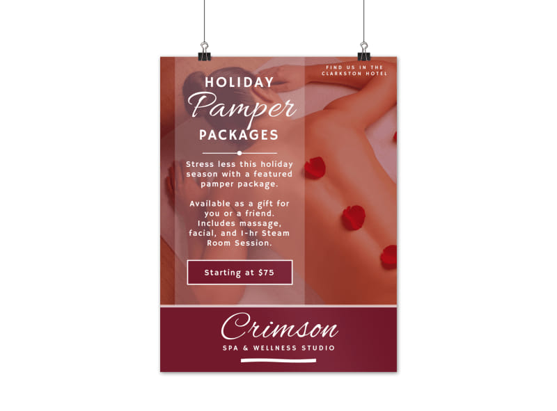 Spa Holiday Packages Poster Template