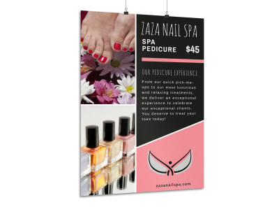 Special Spa Pedicure Poster Template