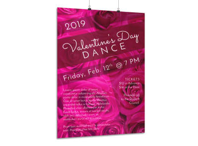 School Valentine's Day Dance Poster Template preview