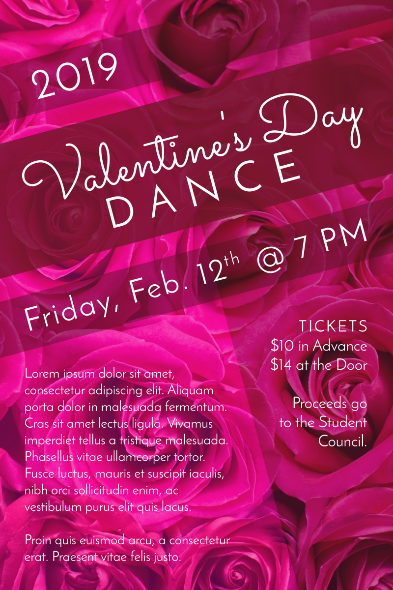 School Valentine's Day Dance Poster Template Preview 2