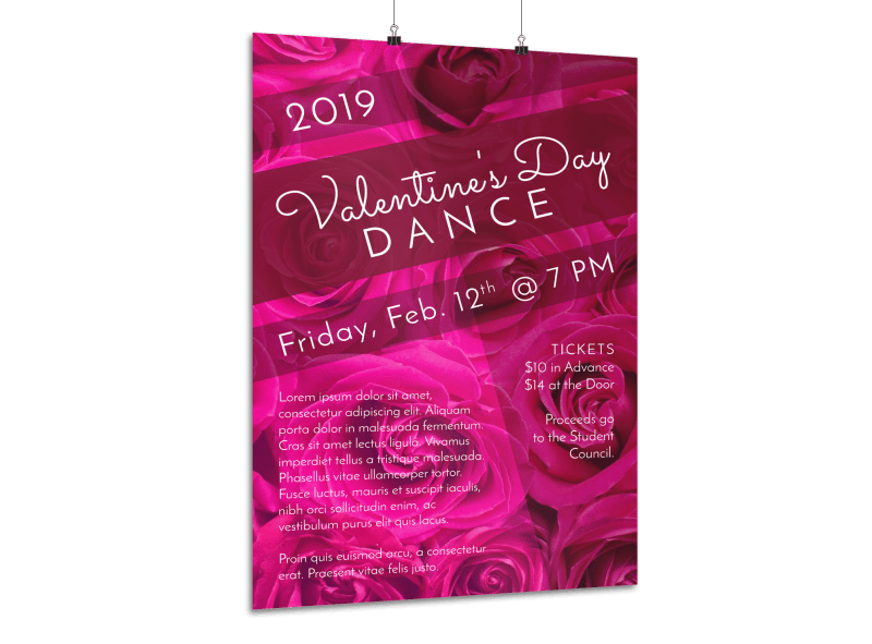School Valentine's Day Dance Poster Template Preview 1
