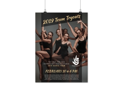 Dance Team Tryout Poster Template preview