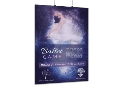 Beautiful Dance Camp Poster Template preview