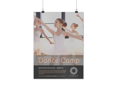 Summer Dance Camp Poster Template preview