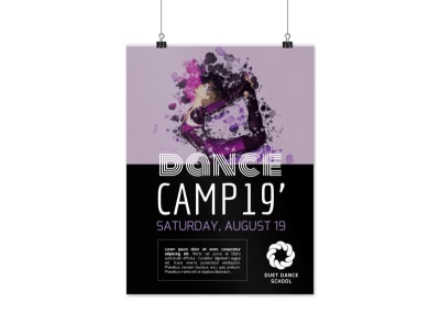 Dance Camp Poster Template preview