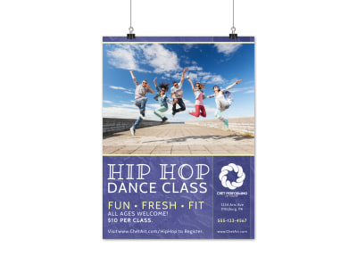 Hip Hop Dance Class Poster Template preview