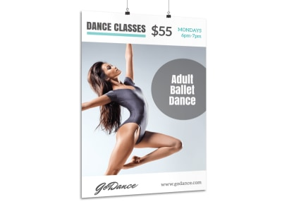 Dance Ballet Class Poster Template preview