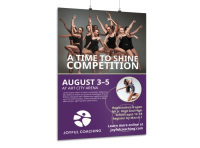 School Dance Competition Poster Template preview