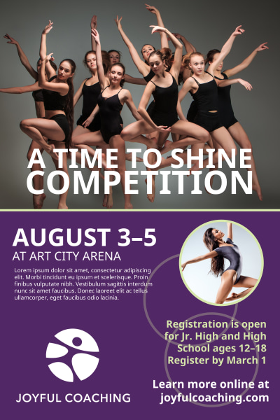 School Dance Competition Poster Template Preview 1