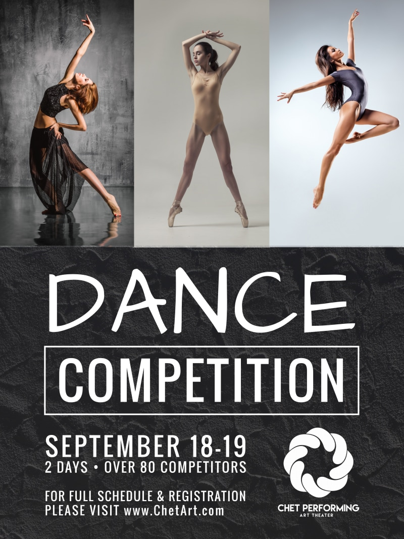 Dance Competition Poster Template Preview 2