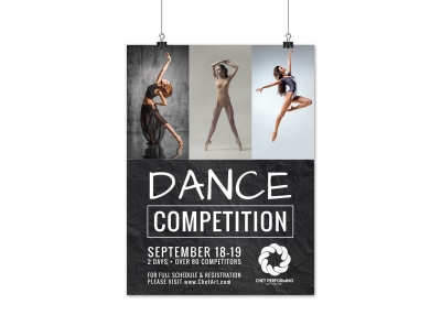 Dance Competition Poster Template preview