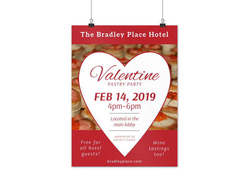 Hotel Party Valentine's Day Poster Template Preview 1
