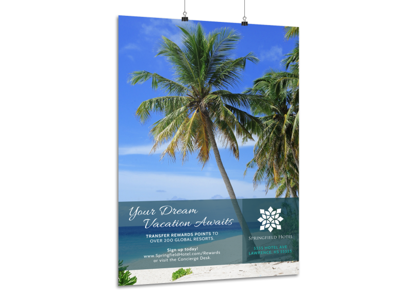 Luxury Hotel Poster Template Preview 1
