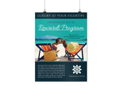 Luxury Hotel Rewards Program Poster Template