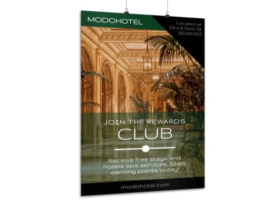 Hotel Club Promotion Poster Template preview