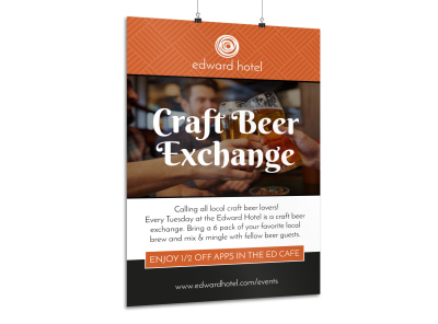Hotel Craft Beer Activity Poster Template preview